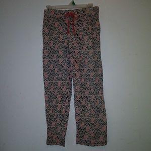 Cynthia Rowley pajama bottoms bulldog sz S